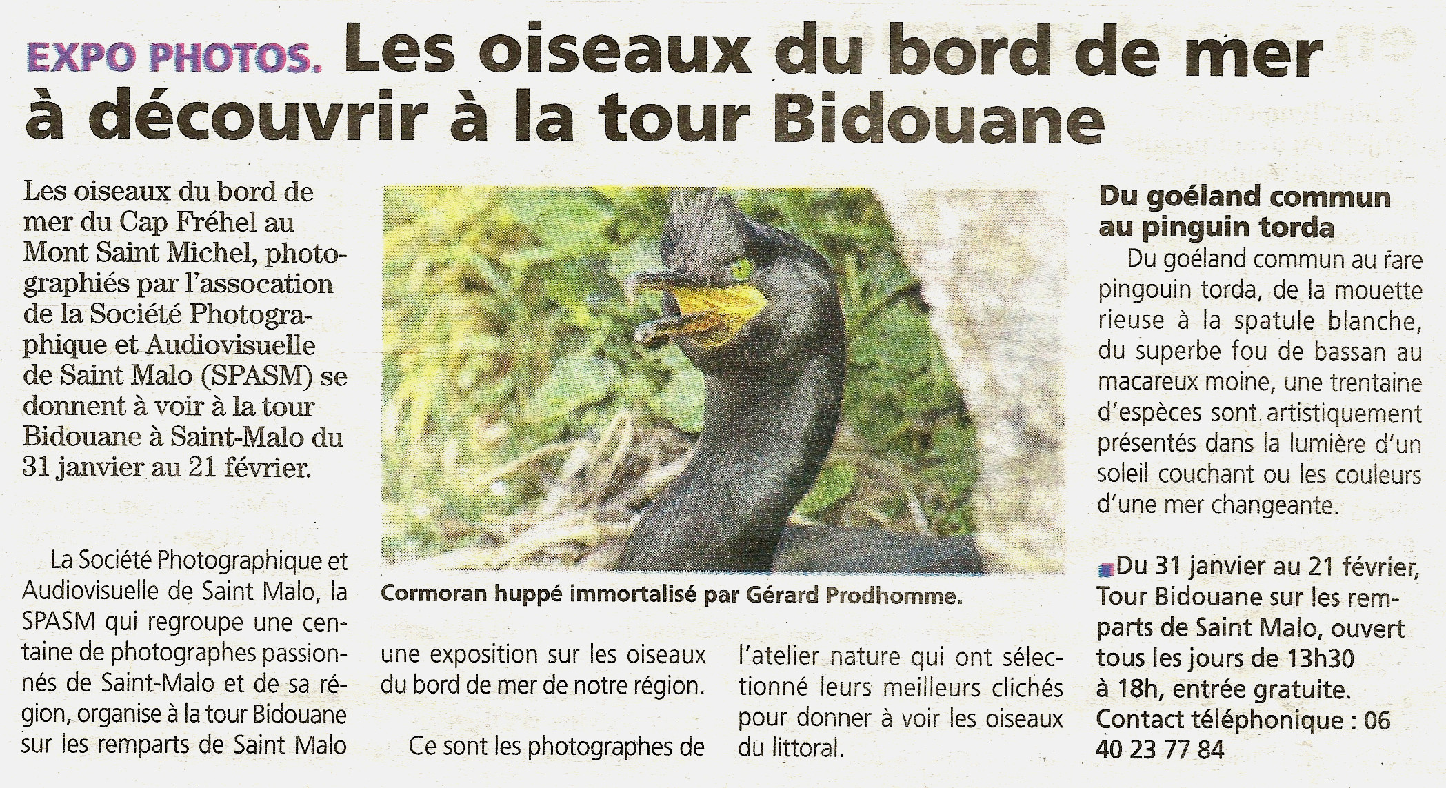 Article du Pays Malouin